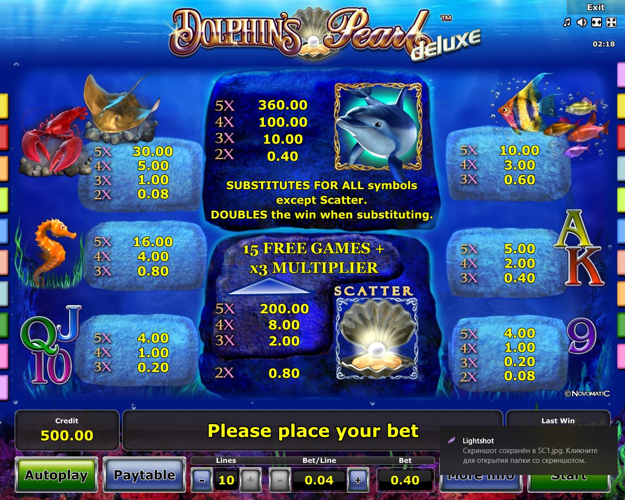 Dolphins Pearl Deluxe Free Play