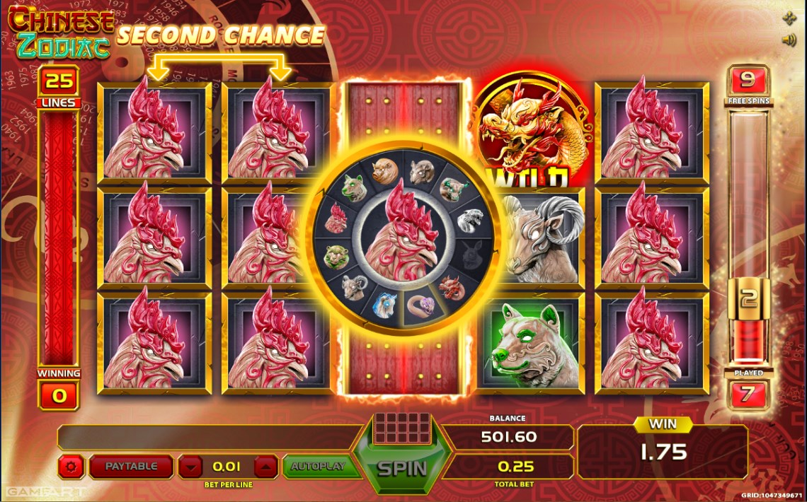 Chinese zodiac gameart casino slots gambling hunter