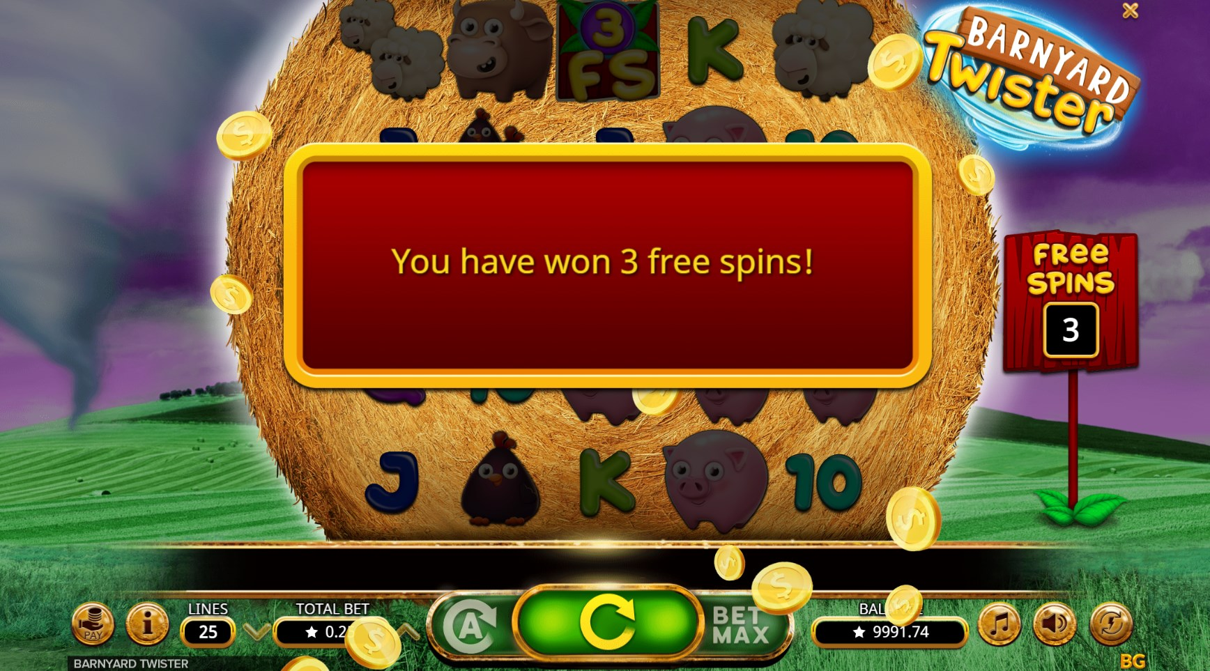 Barnyard Twister slot play for free