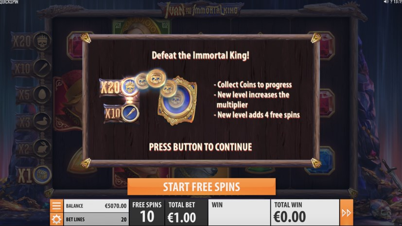Play without registration Ivan and the Immortal King