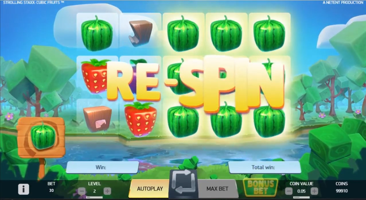 Strolling Staxx Cubic Fruits slot play for free