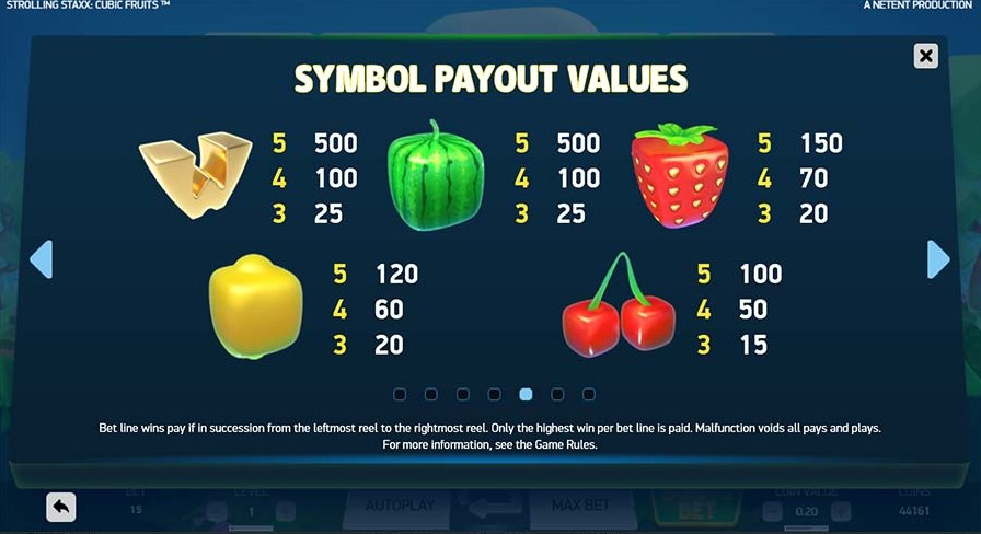 Strolling Staxx Cubic Fruits play for free