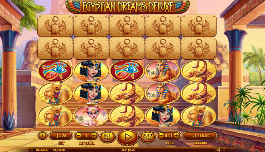 egyptian dreams deluxe casino slot