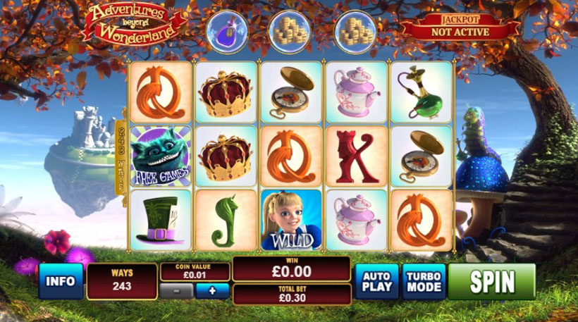 Alice themed online casino slots
