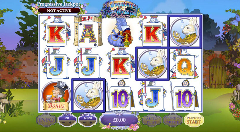 Alice in Wonderland themed slots