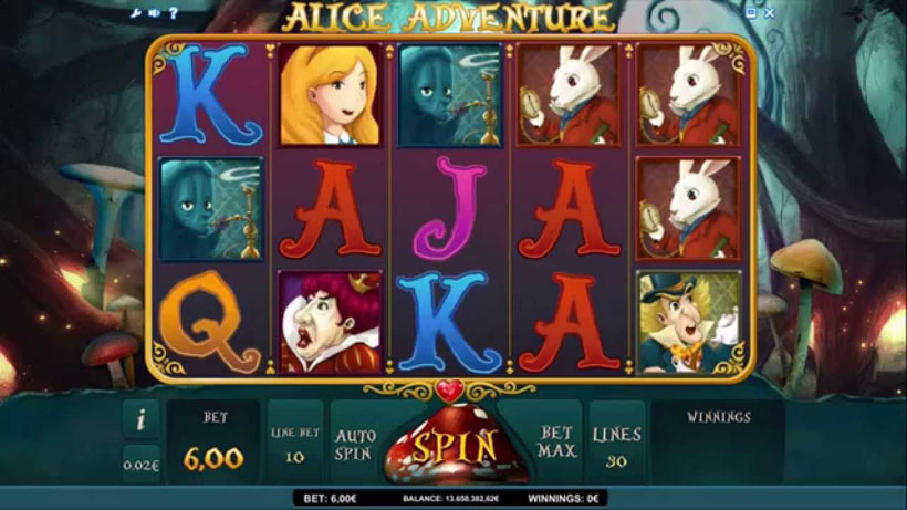 best Alice themed slots