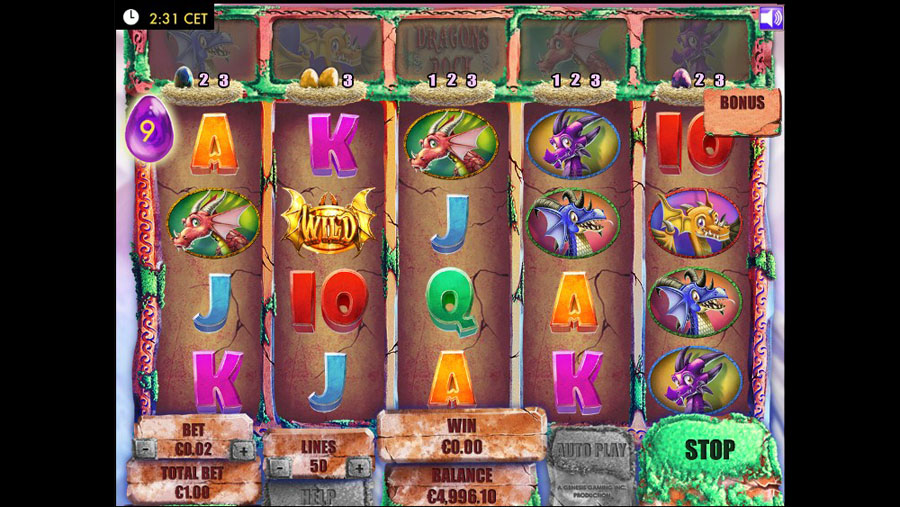 dragons rock online slot
