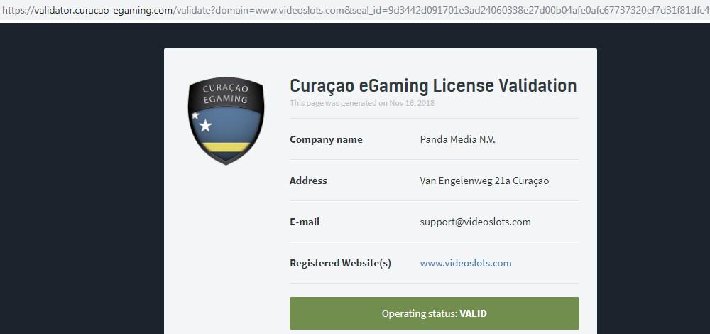 check online casino license