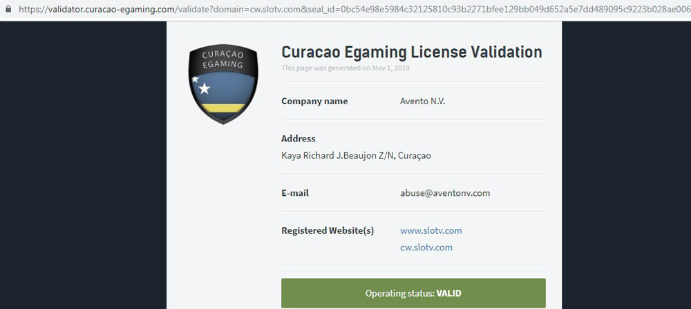 curacao egaming casino license